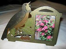 Antique Judd Usa Audubon Bird Cast Iron Picture Photo Print Art Frame Calendar
