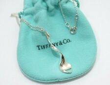 """Tiffany & Co. Sterling Silver Frank Gehry Orchid Pendant Necklace 17"""""""