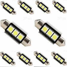 2PCS 36mm CANBUS 3 LED 5050 SMD 6418 C5W Auto Lampe Kennzeichenbeleuchtung Weiß