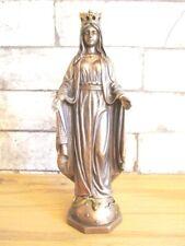 Madonna Mutter Gottes bronzierte Tryptichon Figur zum Aufklappen 20cm