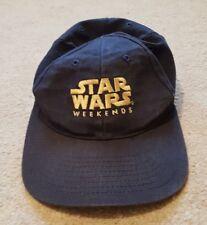 STAR WARS WEEKENDS BASEBALL CAP. DISNEY. MAY 2001. ONE SIZE. NAVY. RRP £50.