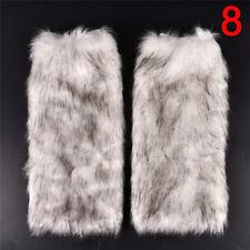 New Women Fluffy Fuzzy Faux Fur Fashion Dance Leg Warmers Muffs Boot Covers FG