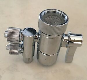 """eSpring Amway two way Faucet Diverter Valve for 3/8"""" in & 2.5/8"""" tubing out USA"""