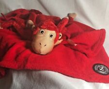 "Baby Zoobies Mashaka the Monkey 2007 15"" Plush &  Fleece BLANKET"