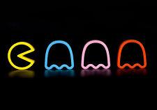 Stampa incorniciata-Neon Pacman E FANTASMI (Giochi Retrò Foto Poster Uomo Grotta ART)