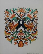 Signed Original Piece By LEONA BARTHLE  'Wycinanki Polish Paper Cuts' Author