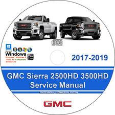 GMC Sierra 2017 2018 2019 2500HD 3500HD Factory Workshop Service Repair Manua