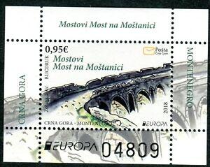 295 MONTENEGRO 2018 - EUROPA Stamps - Bridges - MNH Souvenir Sheet