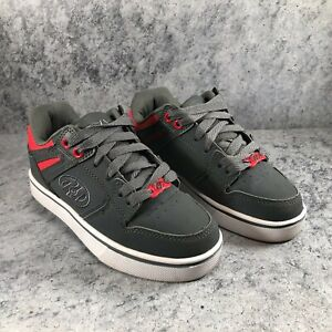 Heelys Motion 2.0 Kid Youth Gray Red Lace Up Skate Sneaker Shoes Youth Size 2