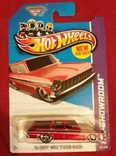 Hot Wheels 64 Chevy Nova Station Wagon Red Free US shipping