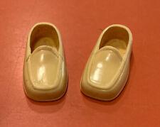 Vintage Barbie Doll Ken Yellow/Orange Shoes Loafers Squishy Shoes Mint