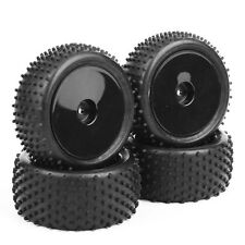RC Front&Rear 4X Rubber Tires&Wheel 12mm Hex For HSP HPI 1/10 Off-Road Buggy Car