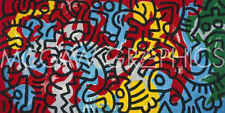 Keith Haring 1985 abstract Contemporary Pop Art Figure Print Poster 24x36