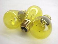 (3) 11S14/Ty-130 Transparent Yellow Marquee/Sign/Amusement Park Bulbs 130V Med.
