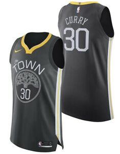 Nike Stephen Curry WARRIORS THE TOWN AUTHENTIC STATEMENT JERSEY 52 XL Blk Jordan