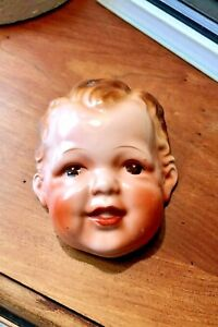 Vintage Goldcastle Japan Porcelain Infant Head Wall Hanging Art~Rare