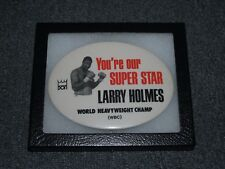 Vintage ca. 1970s *** LARRY HOLMES *** Boxing Pin  Pinback Button DON KING