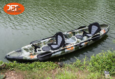 Jetocean 3.7M 2.5 Seaters 2+1 Double Family Fishing Kayak Jungle camo