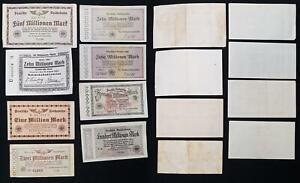 Lot Reisbahn Banknotes 1923/24 8 German National Railroad Banknotes Used 63843