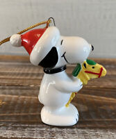 Vintage 1966 Snoopy Riding a Horse Pony Christmas Ornament Japan