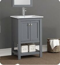 "Fresca Manchester 24"" Gray Traditional Bathroom Vanity - Fcb2304Gr-I"