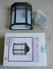 Bel Air Lighting 1-Light Outdoor Patio Wall Lantern with Finished Rust # 54484
