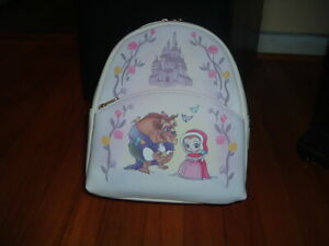 LOUNGEFLY DISNEY BEAUTY & THE BEAST CHIBI MINI BACKPACK~ WITH TAGS~NEW~ DISNEY~
