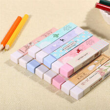 2X Students Favorite Cute Cube Pencil Kawaii Eraser School Stationery Erasers AB