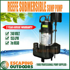 Reefe Sump Pump Submersible Dirty Water w Vertical Float Narrow Sites 155 L/min