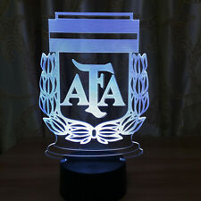 Argentina National Futbol Team Led Lamp Soccer Night Light