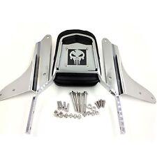 For  98-07 Honda Shadow VLX 600 VT600C New Skull Backrest Sissy Bar Leather Pad
