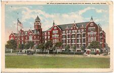 St. Paul's Sanitarium and Annex in Dallas TX Postcard