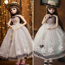 BJD Doll 1/3 60cm Ball Jointed Pricess Girl Dolls Face Makeup Clothes Shoes Set