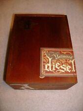 "Diesel ""Unlimited"" wooden cigar box."
