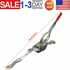 4 Ton Ratchet Hand Power Puller Tighten Tool Tightener 2 Hook Lifting Tools US
