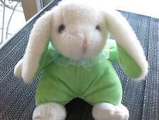 Plüschhase Kuschel Hase Schlappohr weiß/grün weich ca. Höhe 17 cm, süss top