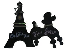 Hanna's Handiworks French Ooh LaLa  Tres Jolie Poodle Eiffel Tower Sign Decor