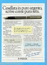 QUATTROR984-PUBBLICITA'/ADVERTISING-1984- PARKER PREMIERE-STERLING SILVER