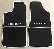 Autoteppich Fußmatten für Seat Ibiza 6K 1993 - 02 schwarz/weiss 4teilig Neuware