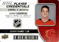 2018-19 Upper Deck MVP NHL Player Credentials Johnny Gaudreau #NHL-JG