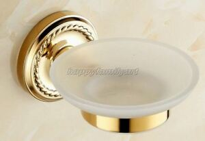 Gold Color Brass Wall Mounted Bathroom Accessories Soap Dish Holder yba612