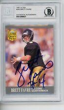 Brett Favre Packers 1991 Fleer Ultra #283 Signed Autographed Card Beckett BAS