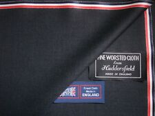 """SUPER 120's WOOL """"Anthracite"""" SUITING FABRIC MADE IN HUDDERSFIELD ENGLAND- 3.4 m"""