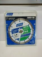 "Norton 7"" Turbo Rim Smooth Cutting  5/8"" Arbors Blade Diamond Grade 11/I1006"