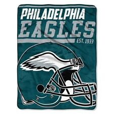 "New NFL Philadelphia Eagles Soft Micro Rasche Large Throw Blanket 46"" X 60"""