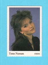 Tone Norum Vintage 1980s Pop Music Swedish Frida Collector Card