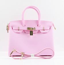 NEW BIKI Matte Bubble Gum Pink Waterproof Beach Bag BLK Vegan Purse Handbag Tote
