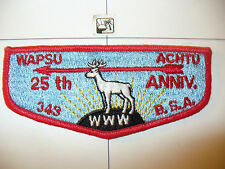 OA Wapsu Achtu Lodge 343 S3,25th Ann 46- 1971,Flap,Susquehanna Valley Council,PA