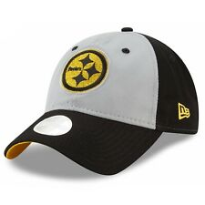 Pittsburgh Steelers New Era 9Twenty Women s Gray Glitter Strapback OSFA Cap  Hat 5c075011e
