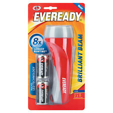 Eveready Brilliant Beam Torch LED Technology Longer Runtime + 2 x D Batteries
